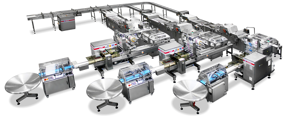 Packaging Systems, <p>Complete Packaging Equipments and Automatic Lines</p>, RECORD, Flow Pack Machines and Equipment for Flexible Packaging