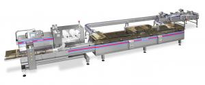 Packaging System for waffles in pile, Packaging Systems, RECORD, Flow Pack Machines and Equipment for Flexible Packaging