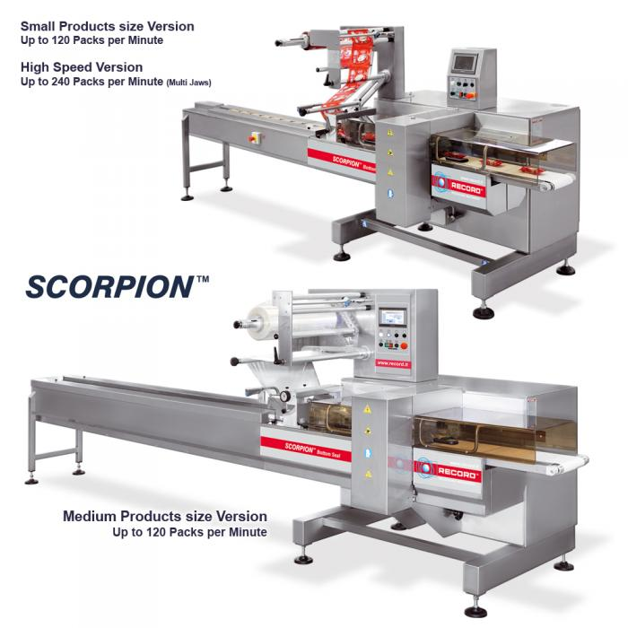 Scorpion Bottom Seal, Ensacheuse Horizontale Flow Pack (HFFS), RECORD, Machines d'emballage et de conditionnement primaire et secondaire de sachets flow pack